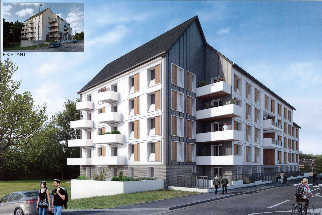 ÉVREUX, rue Mendès France – rénovation de 25 logements